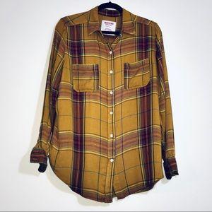 Mossimo Plaid Button Down Boyfriend Shirt - #1353